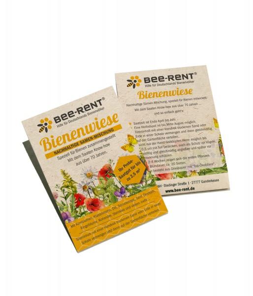 Samentütchen mit Bienen und Insekten Blühmischung Inhalt 5 Gramm für gut 2 m² Fläche